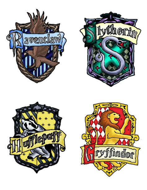 what are the houses in harry potter harry potter houses by assassinispice on deviantart
