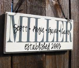 How To Make Home Decor Signs by Personalized Family Wood Sign Home Decor By Saidinstoneonline