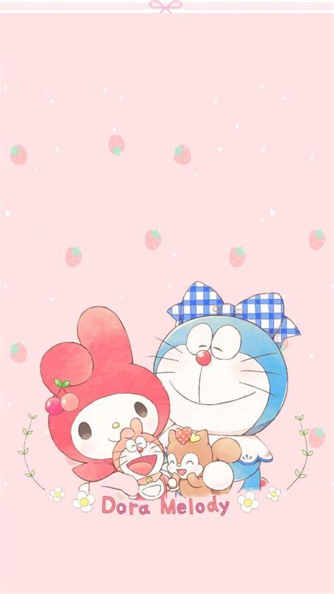 Cop Renteng Hello Melody Doraemon 1 doraemon my melody doraemon sanrio hello and