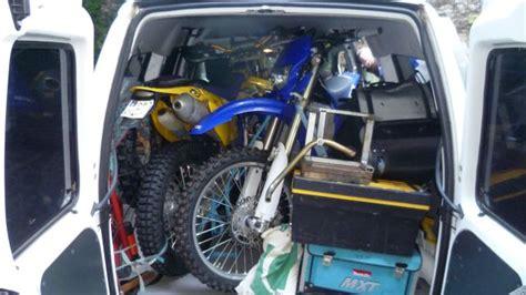 4 Motorräder Transportieren by 2 Motorr 228 Der In Fiat Scudo Transportieren Transport
