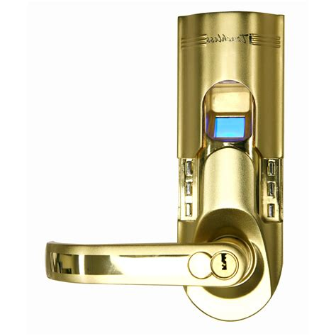 itouchless itouchless bio matic fingerprint door lock gold