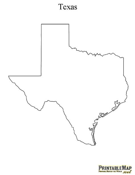 texas outline map printable map of texas state map of texas