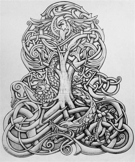 Keltische Muster Vorlagen Kostenlos Spirit 50 Ideen F 252 R Lebensbaum Tattoos Zenideen