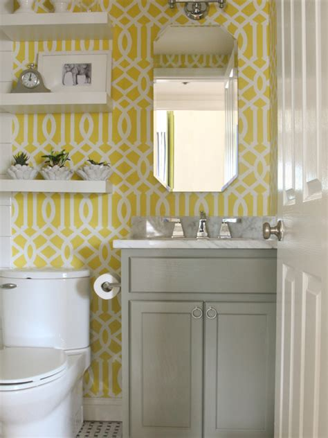 bathrooms with yellow walls imperial trellis stencil contemporary bathroom