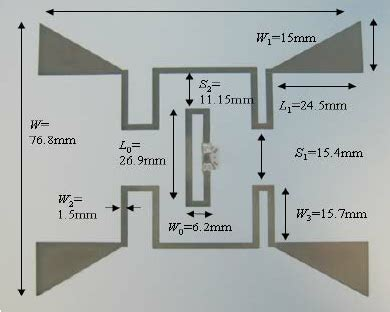 photograph of the dual radiating rfid antenna inkjet printed on paper scientific
