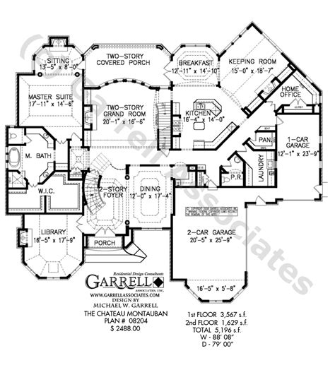 chateau floor plans chateau montauban house plan estate size house plans