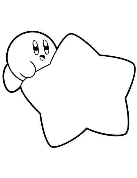 Kirby On Star Coloring Page H M Coloring Pages Kirby Coloring Pages