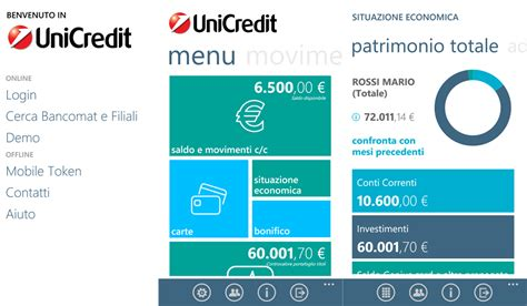 unicredit privati conti anche unicredit ha la sua app ufficiale per windows phone