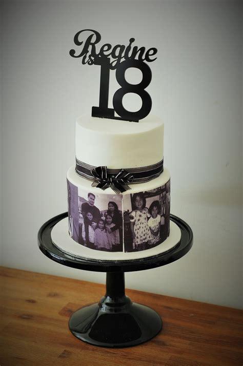 black and white birthday cake regine s black and white 18th birthday photo cake