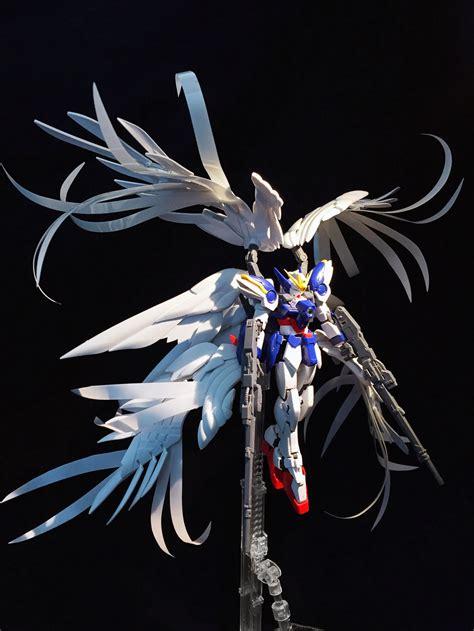 Custom Wing Effect Mg Strike Freedom Fbm Gundam 1 100 gundam rg 1 144 wing gundam zero custom ew