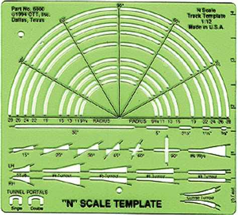 track templates n scale track template myideasbedroom