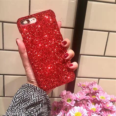 Skin Glitter Iphone 7 gift luxury bling glitter back cover