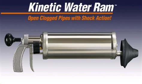 kinetic water ram price drain cleaner kinetic water ram rentals colonial heights