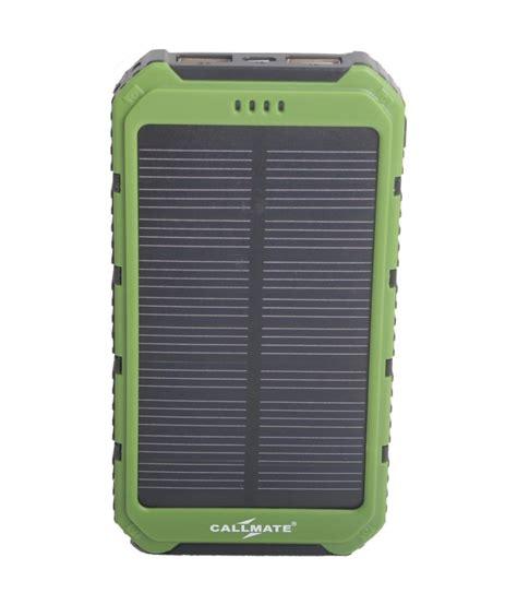 Power Bank Solar 12000mah callmate solar 12000mah power bank green power banks at low prices snapdeal india