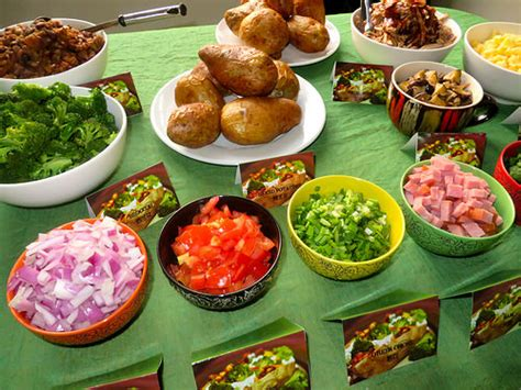 topping for baked potato bar baked potato toppings bar