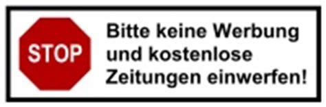 Aufkleber Gegen Werbung Kostenlos by Aufkleber Keine Werbung F 252 R Den Briefkasten Bestellen