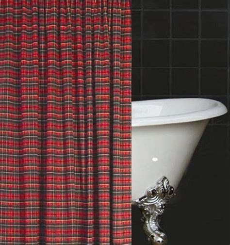 Tartan Plaid Curtains Tartan Shower Curtains And Plaid Shower Curtain On Pinterest