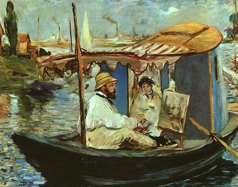 manet monet in his studio boat monet in his studio boat edouard manet wikiart org