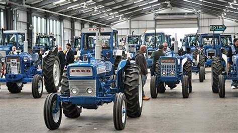 classic ford tractors rally  blue force demo farmers weekly