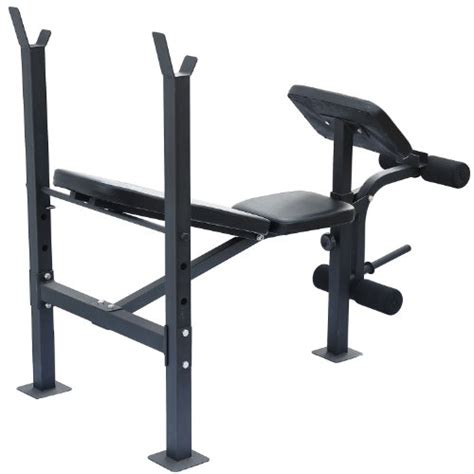flat workout bench sale soozier incline flat exercise free weight bench w curl bar leg extension
