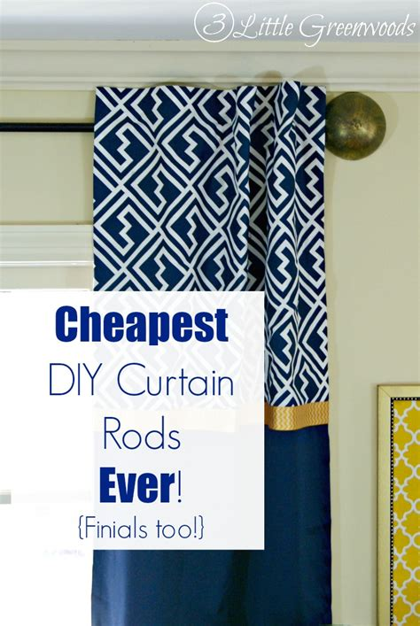 diy curtain finials 16 diy curtain rods and finials crafts shelterness