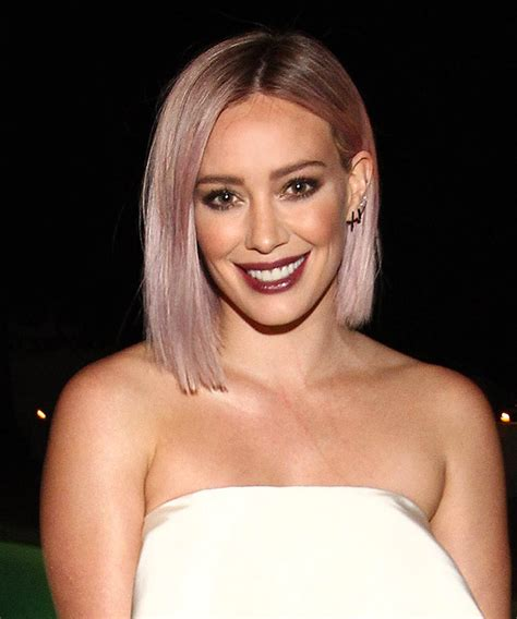 hilary duff talks pink hair instyle com