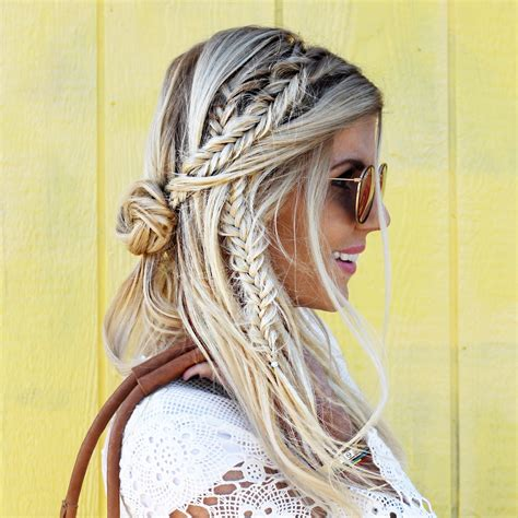 gypsy style hairstyles love this braid look great festival hair blonde