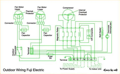 wiring diagram ac cassette fuji electric refrigeration