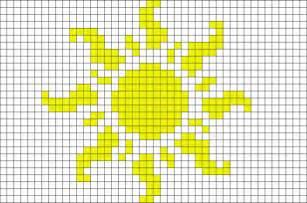 soleil sun pixel art brik