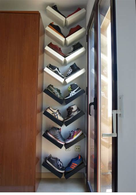 diy shoe rack for closet 18 diy shoe storage ideas for small spaces closet shape