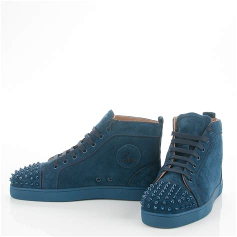 christian louboutin mens sneakers christian louboutin suede louis spikes flat mens sneakers