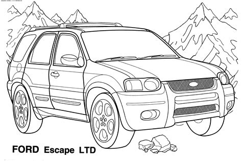 coloring page for car car coloring pages