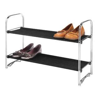 Kmart Shoe Rack 2 tier fabric shoe rack getting those shoes the floor