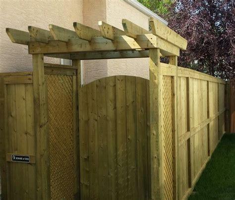 custom small pergola  gate entrance  privacy