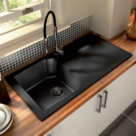 Top 15 Black Kitchen Sink Designs Mostbeautifulthings   top 15 black kitchen sink designs stainless steel