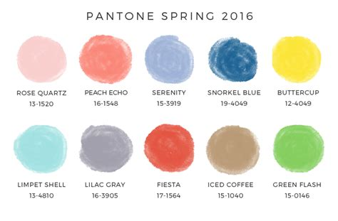 2016 best color palettes pantone spring 2016 colors enreverie blog