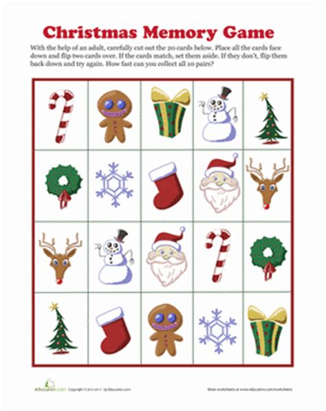 educational christmas games printable worksheets education com
