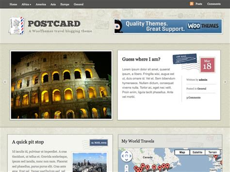 postcard theme by woothemes justwp