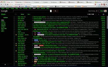 black themes for gmail terminal themes skins userstyles org