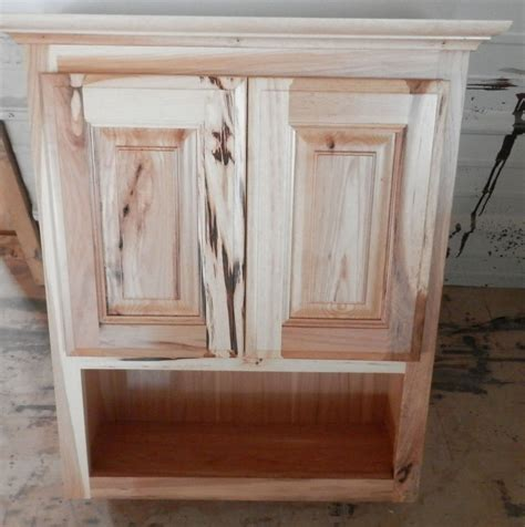 custom wall cabinet amish made custom bathroom wall cabinet rustic hickory ebay