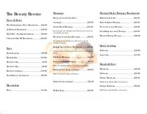 Salon Price List Template by Pin Hairdressing Price List Template On