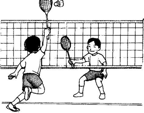 badminton mewarnai wadah pendidikan gambar permainan