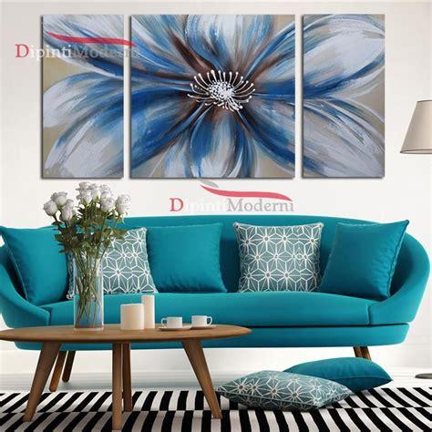 quadri fiore quadri moderni fiore grande azzurro dipinti moderni