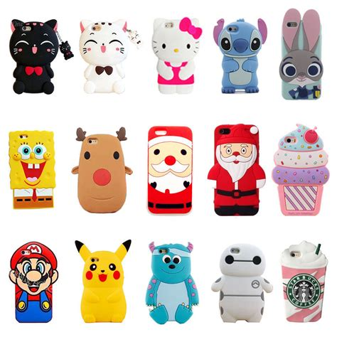 Iphone5 3d Kisd 3d silicone skin cover for iphone 4s 5s 6s 7 plus ebay