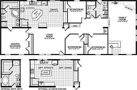 4 bedroom double wide trailers double wide mobile home floor plans double wide home