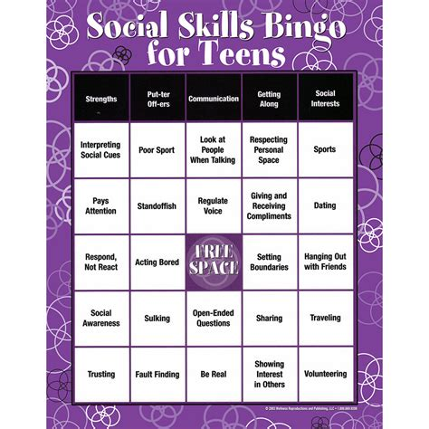 anger management bingo cards printable image gallery social bingo