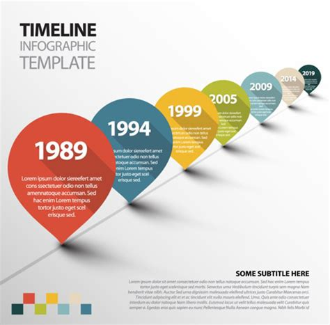 Infographic Timeline Vector Template Free Vector In Adobe Illustrator Ai Ai Vector Infographic Template Illustrator