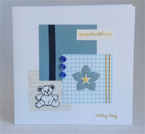 new baby cards to make a handmade card for a new baby boy handmade by helen