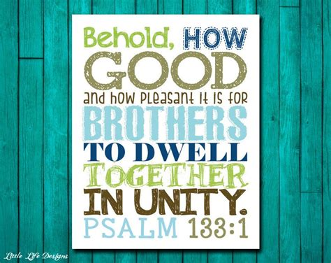 brothers wall art boys room decor psalm  scripture