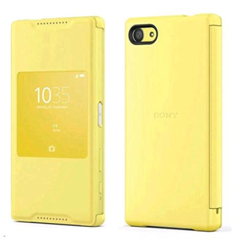 Sony Scr44 Style Cover Stand For Xperia Z5 Compact Original Coral genuine sony scr44 xperia z5 compact window style flip